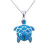 Image of Opal Ocean Turtle Pendant Necklace - OceanHelper