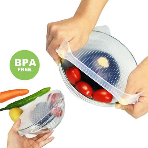 Packs of Silicone Reusable Food Covers - OceanHelper