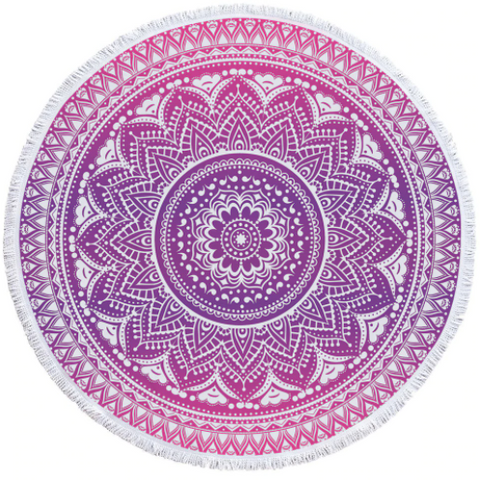 Pink Bohemian Beach Towel