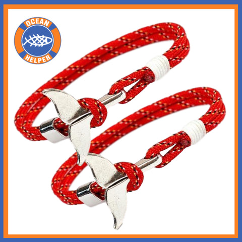 Whale Tail Rope Bracelets Multipacks - OceanHelper