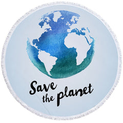 Save The Planet Beach Towel - OceanHelper