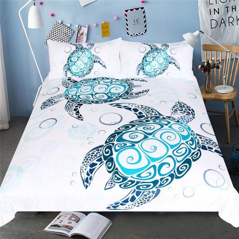 Sea Turtle Bedding Set - OceanHelper