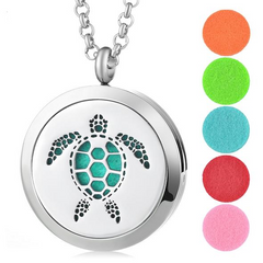 Sea Turtle Essential Oil Diffuser Locket - OceanHelper