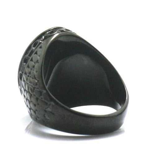 Stainless Steel Black Anchor Ring