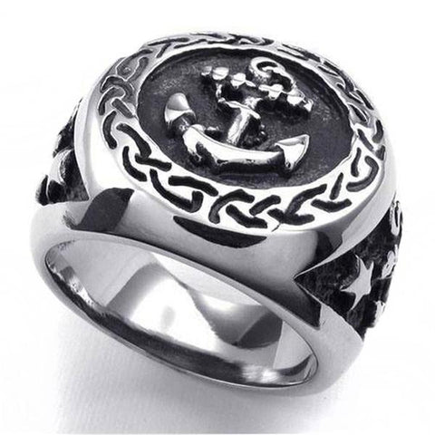Men's Anchor Ring - OceanHelper