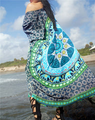 Summer Mandala Beach Cover Up