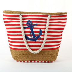 Summertime Anchor Canvas Bag - OceanHelper