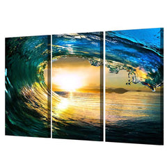 Surfers Dream 3 Panel Framed Canvas Wall Art - OceanHelper