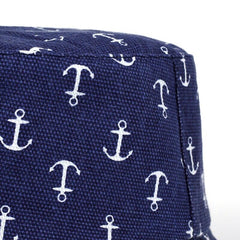 Trendy Navy Anchor Bucket Hat
