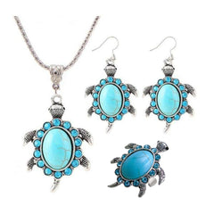 Turquoise Turtle Jewelry Set - OceanHelper