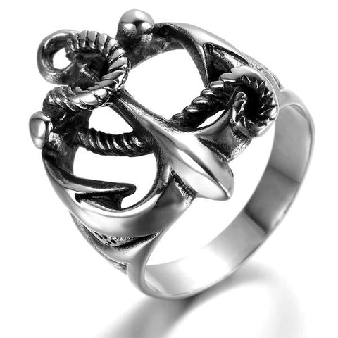 Vintage Anchor Ring - OceanHelper