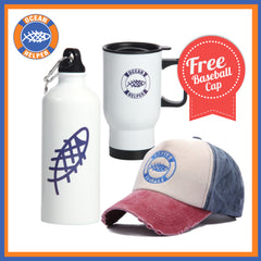 Water Bottle & Coffee Mug set Includes FREE Baseball Cap - OceanHelper