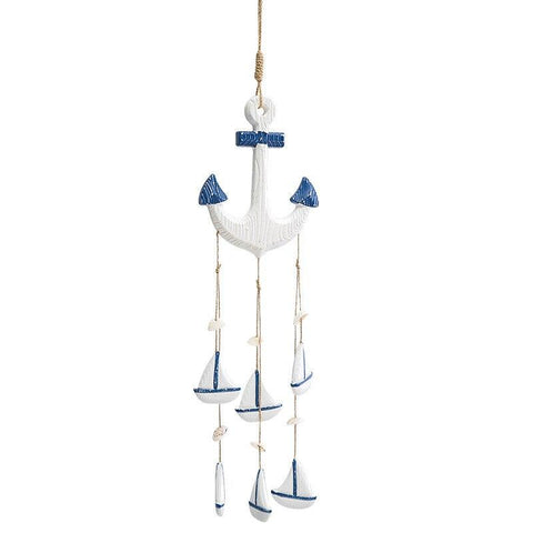 Wooden Anchor Wind Chimes