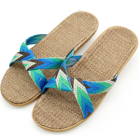 Summer Hemp & Canvas Slippers