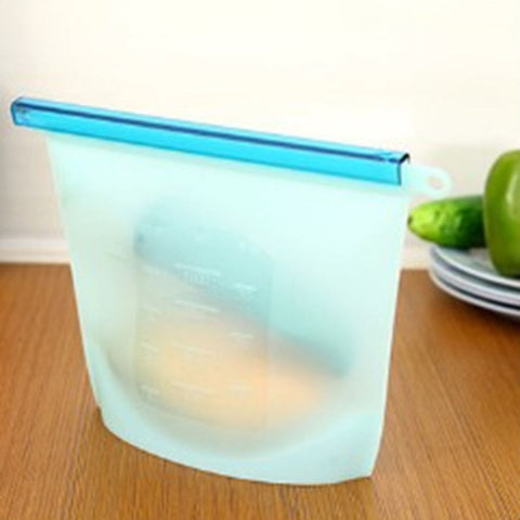 Reusable Silicone Ziplock Food Bags - Pack of 4