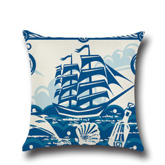 Blue Ocean Themed Cushion Covers