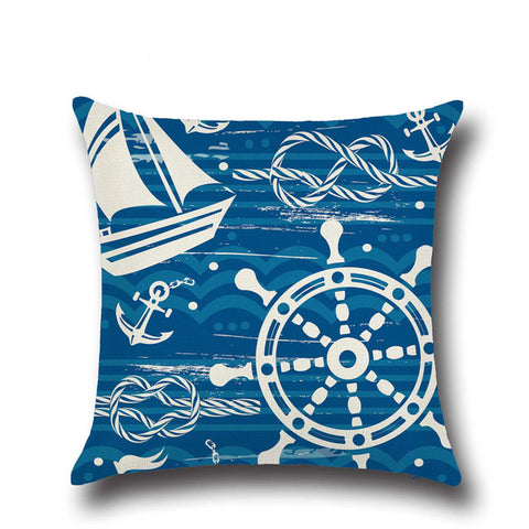 Blue Ocean Themed Cushion Covers - OceanHelper
