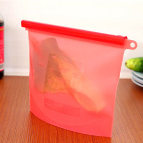 Reusable Silicone Ziplock Food Bags
