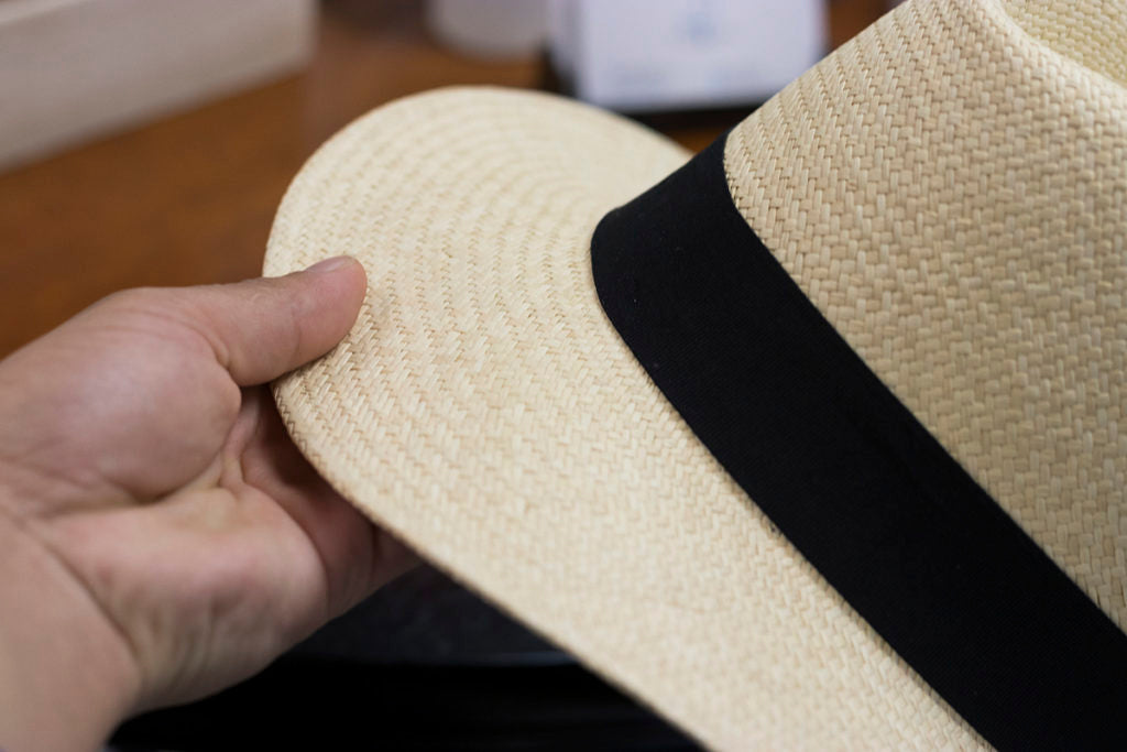 Panama Hat Care Always grab your hat by the brim