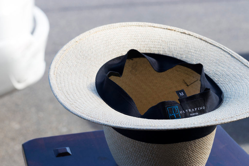 Panama Hat Care - If your sweatband is wet from sweating, turn it inside out when drying to prevent staining.