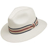 White with Striped Hatband