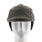 Ivy Ear Flaps Faux Leather Cap Fleece Lined - Ultrafino Panama Hat