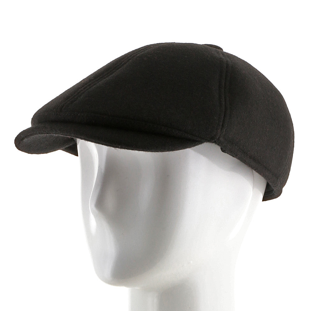 6 Point Wool Newsboy Ivy Earflaps Cap with Fleece Lining.  53.39. No  reviews. Black. Images   1   2   3   4   5   6 751579eda1dc