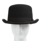 Duster Wool Felt Classic Derby Bowler Hat With Feather - Ultrafino