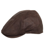 Deco Newsboy Faux Leather Driving Ivy Cap - Ultrafino Panama Hat