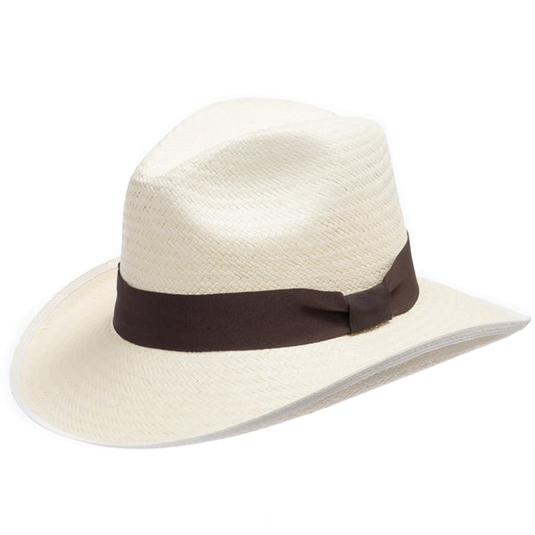 wholesale dealer 2bc6f 8cf44 Romeo Western Curved Brim Straw Panama Hat