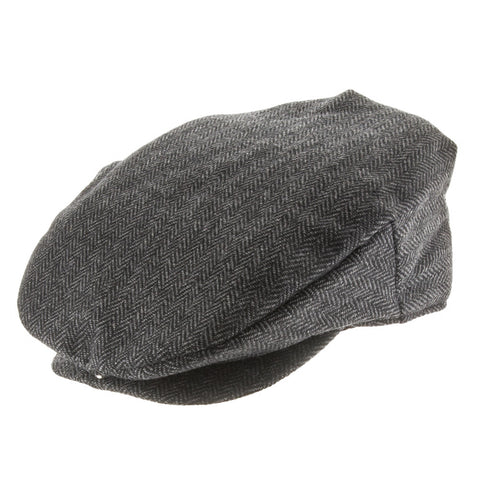 Parker Herringbone Fleece Lined Classic Ivy Newsboy Cap - Ultrafino