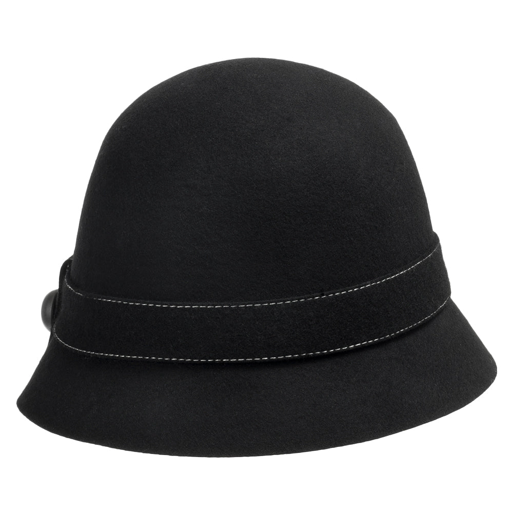 8c1649d24a3ee Elle Wool Classic Cloche Hat with Bow – Ultrafino