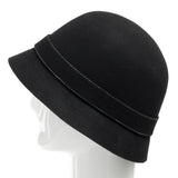 Elle Wool Classic Cloche Hat with Bow - Ultrafino Panama Hat