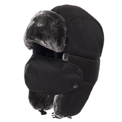 Backcountry Winter Bomber Hat With Face Mask - Ultrafino Panama Hat