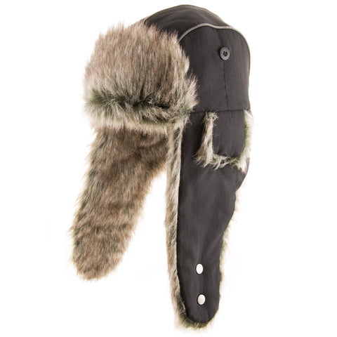 Baltic Trapper Ski Cap Faux Fur Bomber Hat - Ultrafino Panama Hat