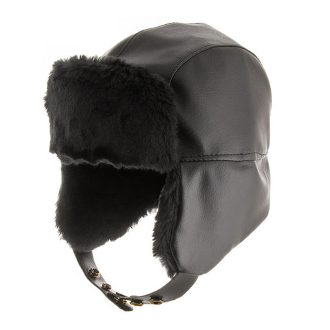 Street Trooper Faux Leather Bomber Hat - Ultrafino