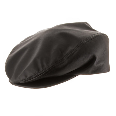 Genuine Leather Driving Scally Ivy Cap - Ultrafino