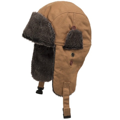 Baron Trapper Faux Fur Aviator Hat - Ultrafino Panama Hat