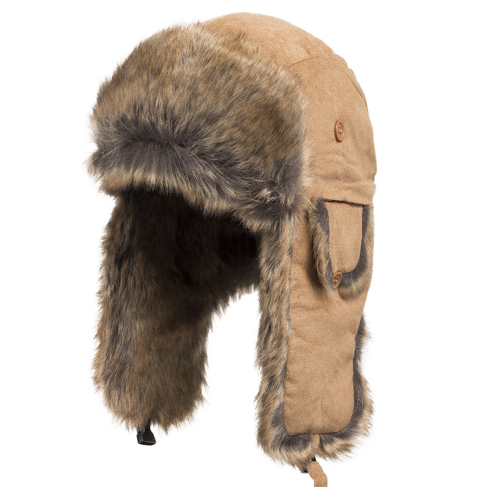 ebc8058fe34e5 Savannah Trapper Faux Fur Bomber Hat – Ultrafino