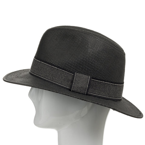 Barrington Crushable Straw Fedora Hat - Ultrafino Panama Hat