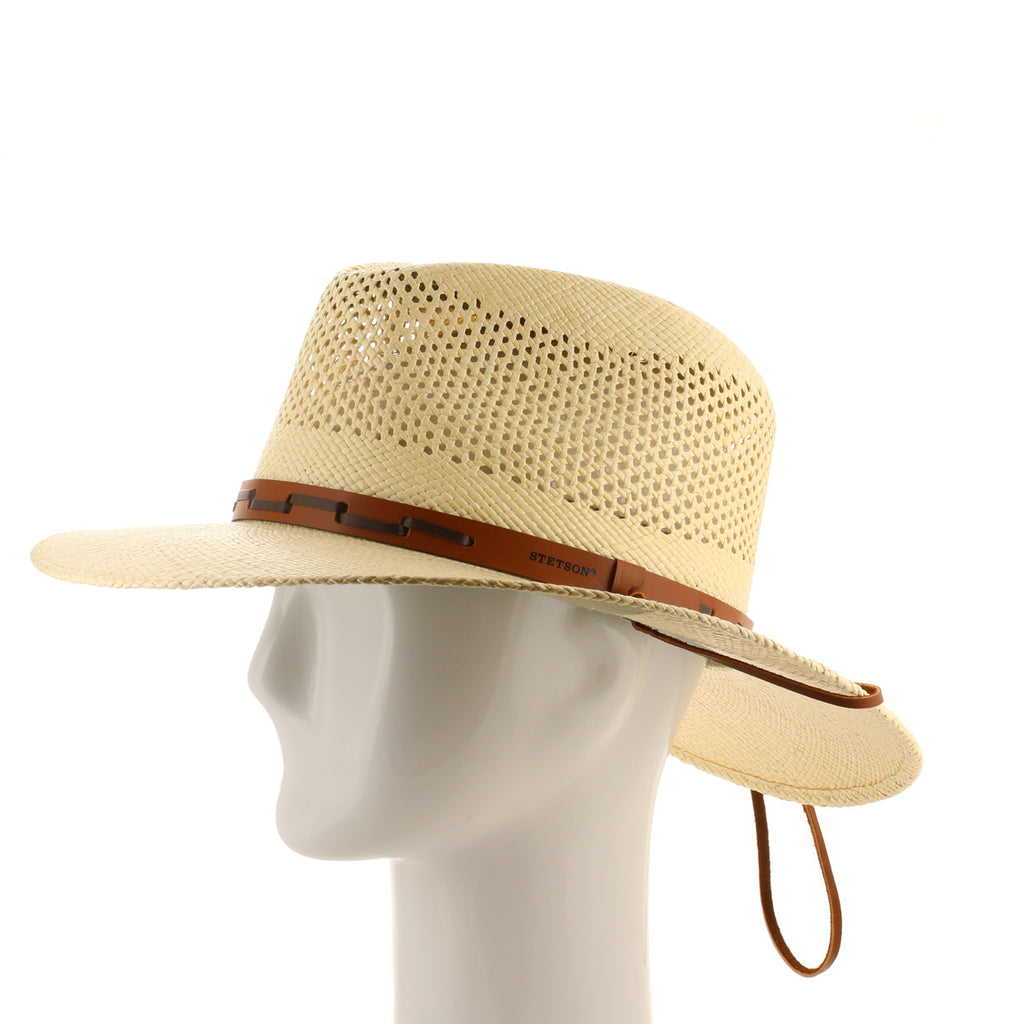 Stetson Outback Vented Straw Hat – Ultrafino 5f613cf91a00