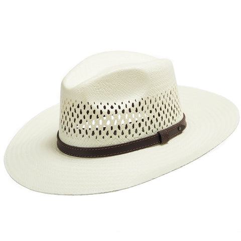 Stetson Digger Vented Straw Outback Hat - Ultrafino Panama Hat