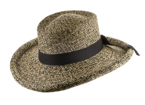 Malibu Gambler Straw Panama Hat with Rolled-Up Brim - Ultrafino Panama Hat