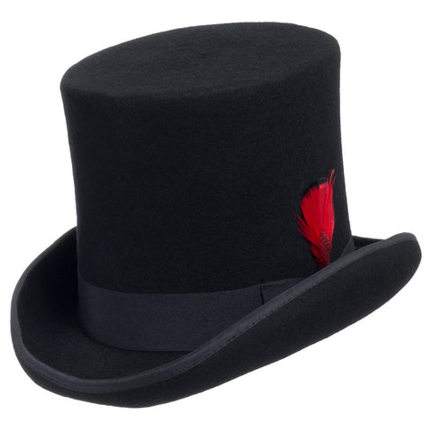 Sebastian Victorian Wool Top Hat - Ultrafino Panama Hat
