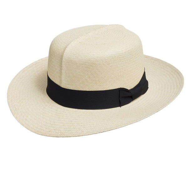 English Optimo Classic Straw Panama Hat - Ultrafino Panama Hat