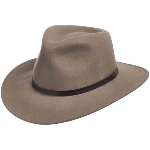 Outback Capry Putty Crushable Wool Hat - Ultrafino Panama Hat