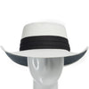 White with Black Hatband