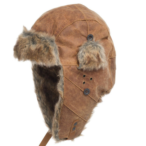 Australian Ushanka Genuine Leather Trapper Hat - Ultrafino Panama Hat