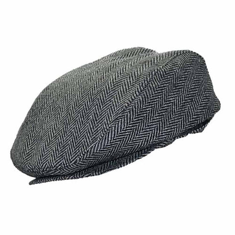 English Driver Herringbone Wool Ivy Cap - Ultrafino Panama Hat