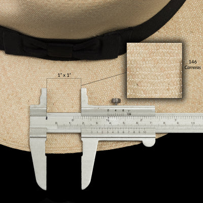 #303 Montecristi Fedora Tear Drop Crown - Size 7 1/4